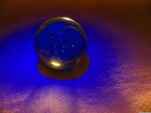 Crystal ball blue shadow