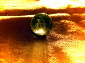Crystal ball honey green