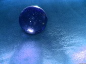 Crystal ball blue 2