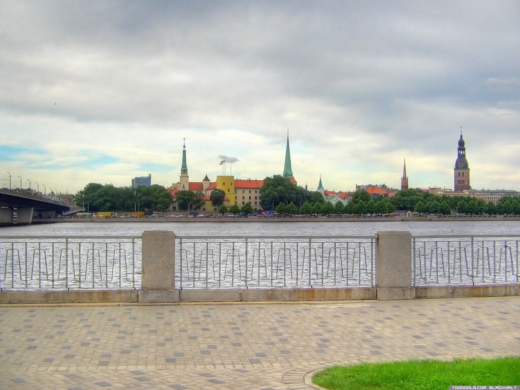 Towers of Old Riga