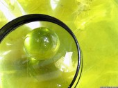 Lens, Crystal ball, yellow