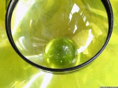 Lens, Crystal ball, yellow, 2