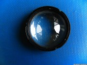 Two lenses, blue
