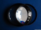 Two lenses, blue, reflection, 2
