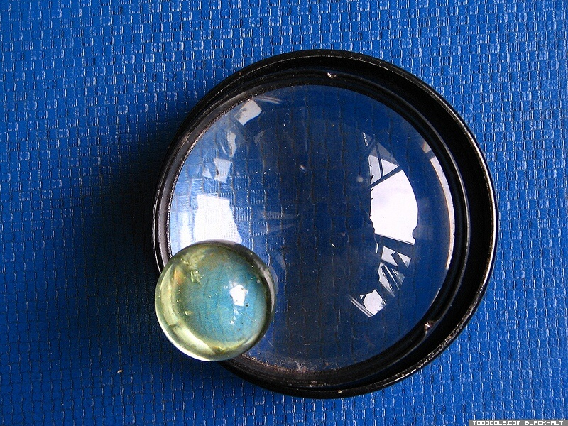 Two lenses, Crystal ball, navy