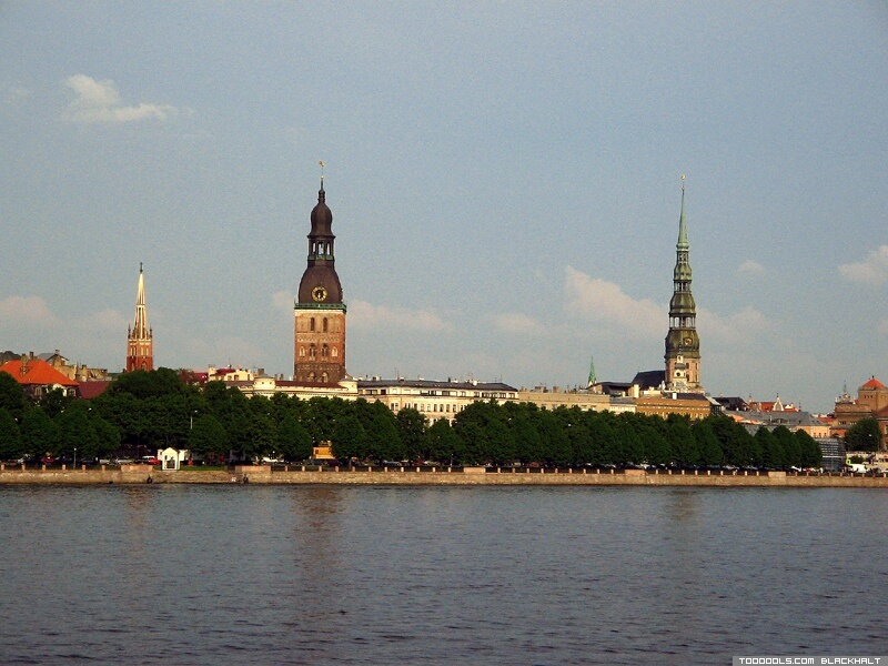 Church towers of Old Riga, 2