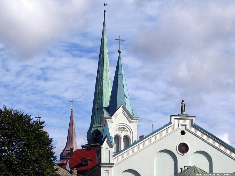 Church towers of Old Riga, 5