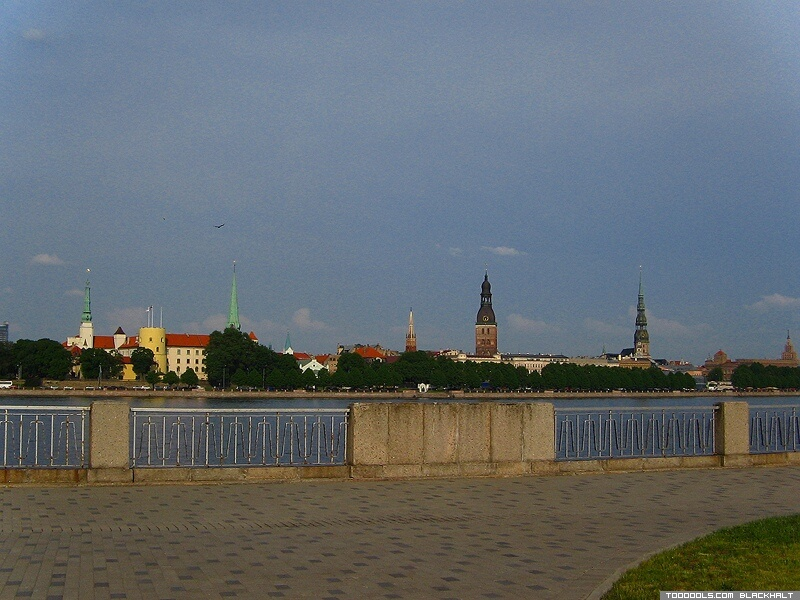 Daugava Embankment from Stone Of Sun