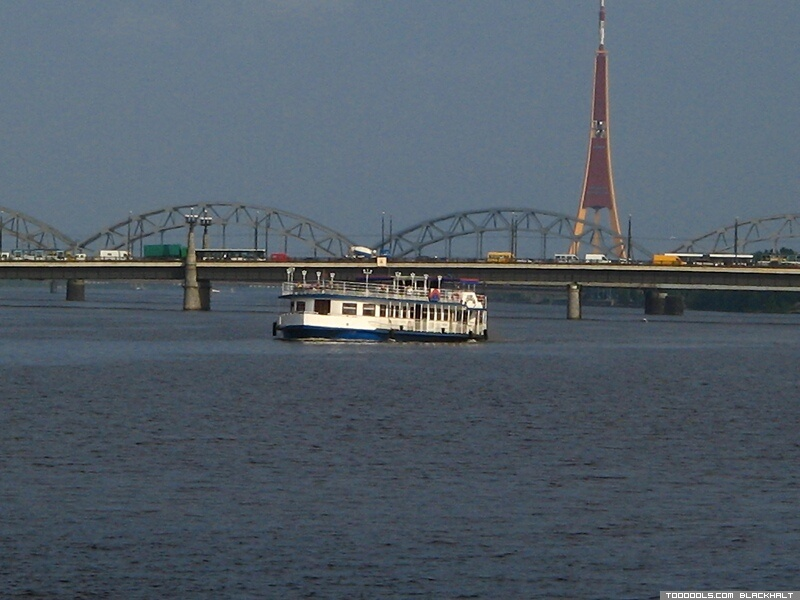 Daugava, Railway bridge, TV Tower, 3