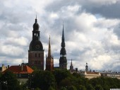 Church towers of Old Riga, 3