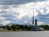 Daugava river, Railway bridge, TV Tower