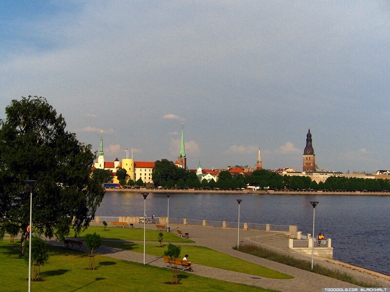 Towers of Old Riga from Stone Of Sun