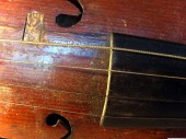 Violin fragment, Strings, 3
